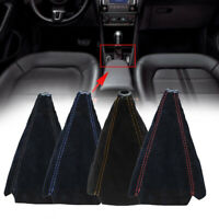 Car Suede Leather Manual Gaiter Gear Stick Shifter Knob Boot Cover Accessories w