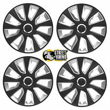 "Volkswagen Fox 15"" Universal Stratos RC Wheel Cover Hub Caps x4"