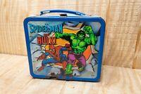1982 Vintage Marvel Heroes Metal Lunch Box Cap America - Spider-Man - Hulk