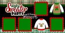Scrapbook Layout Page Kit Christmas Ugly Sweater Party Die Cut PKEmporium 164