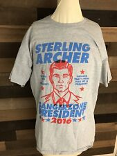 Sterling Archer For President Shirt Mens Size Large