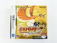 Pokemon Heart Gold Version In Box Nintendo DS Box Manual Japanese
