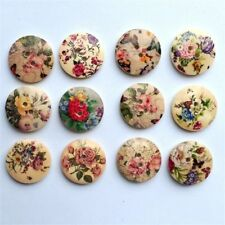 Lot/Scrapbooking/Card 50Pcs Color Mixed 20mm Wood Round Buttons Sewing 2Holes