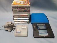 NINTENDO 2DS System 4GB Memory Card BLUE/BLACK 11 Games + Installed Mario Bros 2