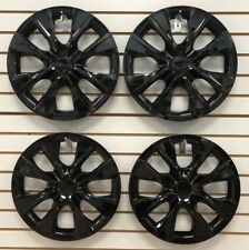 """SET of 4 NEW 15"""" BLACK Hubcap Wheelcover that fits 2009-2018 TOYOTA COROLLA"""