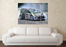 Grand ken block Fiesta Hoonigan gymkhana sport voiture mur Poster Art Image Print