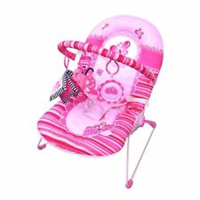 Pink Butterfly Baby Bouncer Bouncy Rocker Chair Seat with Removable Dangle Toys