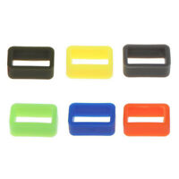 10pcs 20mm Rubber Silicone Watch Band Loop Strap Holder Locker Keeper Fit Most