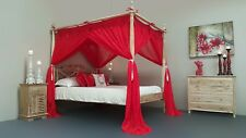CANOPY Mosquito Net for Four Poster Bed 185cm x 205cm Red King Size