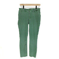 Anthropologie Crop Pants Butterfly Women 8 Cotton Rayon Mid Rise Essential Slim