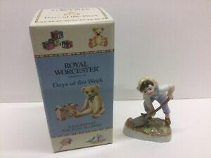 Royal Worcester Saturday Boy. Porcelain figurine