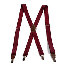 Pelican USA Suspenders Solid Red, Navy Blue Striped, Brown Leather, Clips