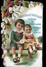 IMAGE CHROMO découpis CHOCOLAT POULAIN / RENDEZ-VOUS de COUPLE d'ENFANT