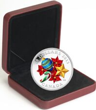 2013 Canada $20 Holiday Candy Cane 1oz Coloured Silver Coin Proof