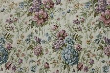 COTTAGE FLORAL TAPESTRY 6 YDS Upholstery Fabric Victorian Sofa Kimball French