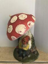 Vintage Candle Mushroom Gnome Johann Gunter Walldur Baden Large 9� B6