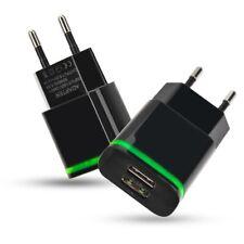 Universal Doble USB Cargador carga cabeza enchufe de la UE para Smartphone Tablet Negro Bs