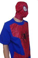 Mens Spiderman Shirt Mask Easy Halloween Costume Size Large Lg Super Hero NEW