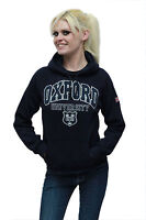 Navy Blue Oxford University Hoodie - Union Jack- Sweatshirt - Ladies UK LONDON