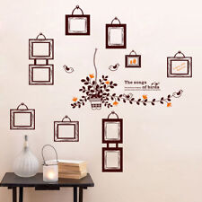 DIY Family Flowers  Wall Decal Sticker Removable Picture Frame Photo Home Art SU