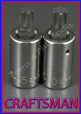 "CRAFTSMAN TOOLS 2pc 1/2"" dr Torx / Star bit ratchet socket set (FREE SHIPPING)!"