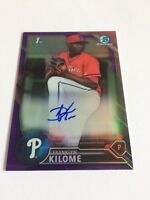 2016 Bowman Chrome Franklyn Kilome /250 Purple Rookie Refractor Auto Mets RC