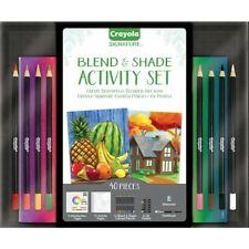 Crayola Signature Blend & Shade Activity Set 40 pieces pencils oil pastels brush