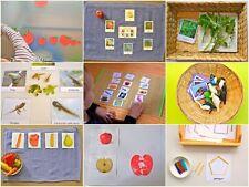 Montessori Practical Life, Mathematics, Sensorial, Cultural/Geo & Language Album