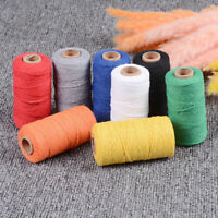 Woven 100 Yards String Cotton Rope Macrame Cord Braided Twisted Crafts DIY A