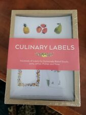 30 Culinary Labels stickers Chronicle Books 2015 NEW Sealed
