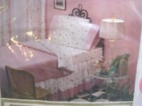 Vintage Sears Pink Polka Dot Full Fitted Sheet Percale New in Pkg