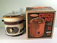 VINTAGE Rival Crock Pot - Model 3100 3-1/2 Quart - Almond - with Box - NICE!