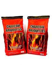BBQ Charcoal Barbecue Coal Briquettes 🔥 8kg. 2 x 4kg bags Lite Fire Pit