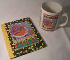 Mary Engelbreit Christmas Book (Believe) and Matching Coffee Cup