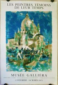 FONTANAROSA LUCIEN affiche originale lithographie MOURLOT exposition 1971