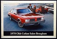 1978 CUTLASS SALON BROUGHAM Vintage OLDSMOBILE Dealer LARGE Showroom Poster Sign