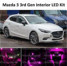 Rosa Viola Premium per Mazda 3 2013-2018 Interior pieno UPGRADE KIT LUCE LED