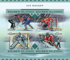 Solomon Islands 2016 MNH Ice Hockey 4v M/S Sports Stamps