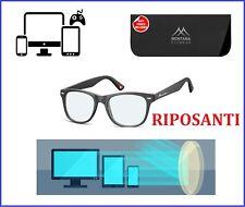 occhiali per computer pc anti luce blu lenti non graduati vista filtro riposanti