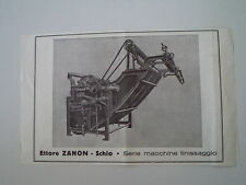advertising Pubblicità 1948 MACCHINE FINISSAGGIO ETTORE ZANON - SCHIO