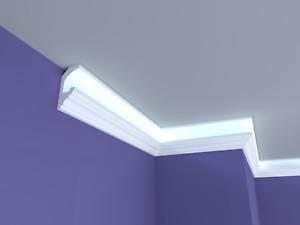 XPS Polystyrene LED Indirect Lighting Up lighter Lightweight Coving Cornice LED1