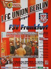 Programm 2009/10 Union Berlin - FSV Frankfurt