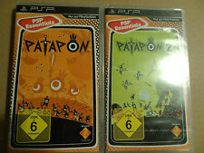 Playstation Portable, 2 PSP Spiele PATAPON 1 und 2 in OVP Anleitung Games 2008 9
