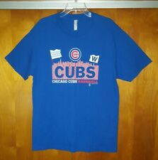 W Flag ~ Chicago Cubs 2016 World Series Champions Roster T Shirt - Men's Size L