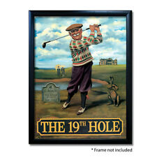 19TH HOLE GOLF PUB SIGN POSTER PRINT | Pub World Memorabilia