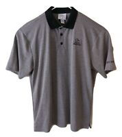 Ducks Unlimited Men's Polo Shirt XL Gray Black Short Sleeve Embroidered
