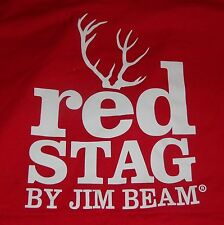 Jim Beam Red Stag Men's T Shirt - Red - Deer Logo - Men's Small - .NEW