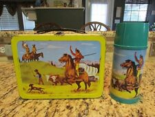 VINTAGE NICE CLEAN RARE OLD 1959 PATHFINDER METAL LUNCHBOX & THERMOS
