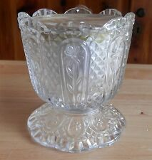VINTAGE AVON EXCLUSIVE CANDLE HOLDER AND CANDLE PRODUCED BY FOSTORIA GLASS