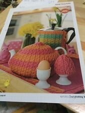 Quick, Easy Breakfast Set Knitting Pattern - Tea, Egg & Coffee Cosy, Cabled